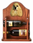 American Cocker Spaniel Wine Rack -Buff