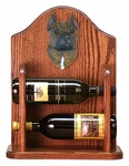 American Staffordshire Terrier Wine Rack -Brindle