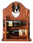American Staffordshire Terrier Wine Rack -Brindle/White