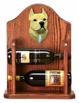 American Staffordshire Terrier Wine Rack -Fawn