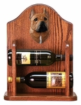 American Staffordshire Terrier Wine Rack -Red