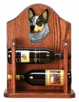 Australian Cattle Dog Wine Rack -Blue