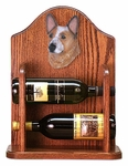 Australian Cattle Dog Wine Rack -Red