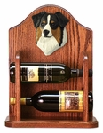 Australian Shepherd Wine Rack-Black Tri