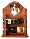 Australian Shepherd Wine Rack-Red Merle