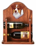 Australian Shepherd Wine Rack-Red Tri