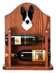 Basenji Wine Rack -Black/White