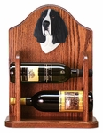 Basset Hound Wine Rack-Black/White