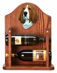 Basset Hound Wine Rack-Red/White