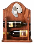 Bedlington Terrier Wine Rack -Blue