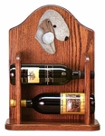 Bedlington Terrier Wine Rack -Liver