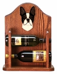Boston Terrier Wine Rack -Black