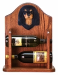 Cavalier King Charles Spaniel Wine Rack-Black & Tan