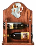 Clumber Spaniel Wine Rack-Orange