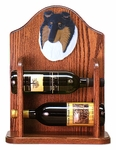 Collie (rough) Wine Rack -Tri