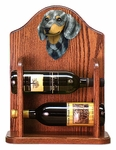 Dachshund (smooth) Wine Rack-Blue Dapple