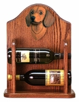 Dachshund (smooth) Wine Rack-Red