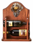 Dachshund (smooth) Wine Rack-Red Dapple