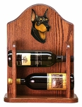 Doberman Wine Rack -Black/Tan