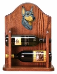 Doberman Wine Rack -Blue