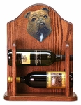 English Bulldog Wine Rack-Brindle