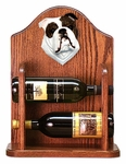 English Bulldog Wine Rack-Brindle/White