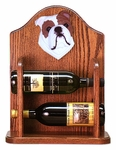 English Bulldog Wine Rack-Red