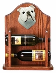 English Bulldog Wine Rack-White