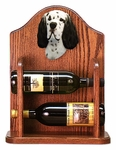 English Setter Wine Rack -Black