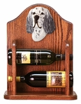 English Setter Wine Rack -Blue