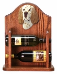 English Setter Wine Rack -Liver