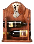 English Setter Wine Rack -Orange