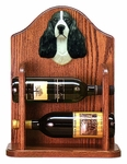 English Springer Spaniel Wine Rack-Black