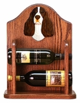 English Springer Spaniel Wine Rack-Liver