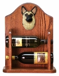 German Shepherd Wine Rack-Tan w/ Black Saddle
