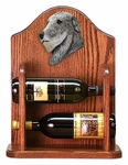 Irish Wolfhound Wine Rack -Grey