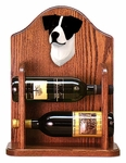 Jack Russell Terrier Wine Rack-Black/White