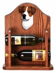 Jack Russell Terrier Wine Rack-Brown/White