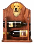 Labrador Retriever Wine Rack-Yellow
