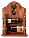 Miniature Pinscher Wine Rack -Black/Tan