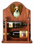 Papillon Wine Rack -Brown/White