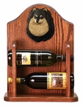 Pomeranian Wine Rack -Black/Tan