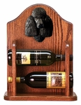 Poodle Wine Rack -Black