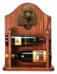 Poodle Wine Rack -Brown