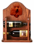 Poodle Wine Rack -Red