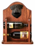 Pug Wine Rack-Black