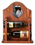 Schnauzer (minature) Wine Rack-Salt/Pepper