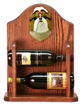 Shih Tzu Wine Rack -Brown/White
