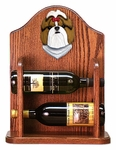 Shih Tzu Wine Rack -Gold/White