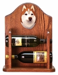 Siberian Husky Wine Rack-Red/White